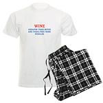 WINE vs BOTOX Men's Light Pajamas