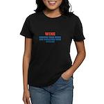 WINE vs BOTOX Women's Dark T-Shirt