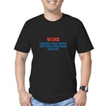 WINE vs BOTOX Men's Fitted T-Shirt (dark)