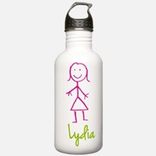 Lydia-cute-stick-girl.png Water Bottle