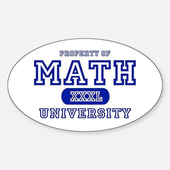 Math University Oval Decal