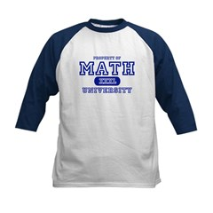 Math University Kids Baseball Jersey