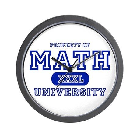 Math University Wall Clock