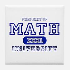 Math University Tile Coaster