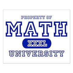 Math University Posters