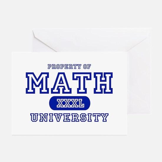 Math University Greeting Cards (Pk of 10)