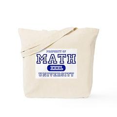 Math University Tote Bag