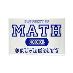 Math University Rectangle Magnet