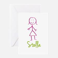 Stella-cute-stick-girl.png Greeting Card