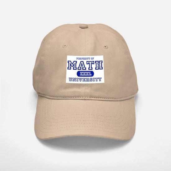 Math University Baseball Baseball Cap