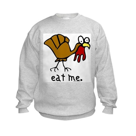 """eat me"" Turkey Kids Sweatshirt"