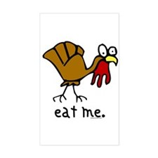 """""""eat me"""" Turkey Rectangle Decal"""