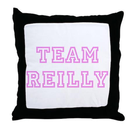 Pink team Reilly Throw Pillow