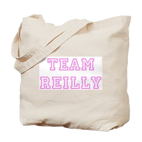 Pink team Reilly Tote Bag