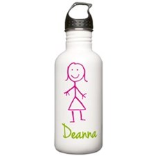 Deanna-cute-stick-girl.png Water Bottle