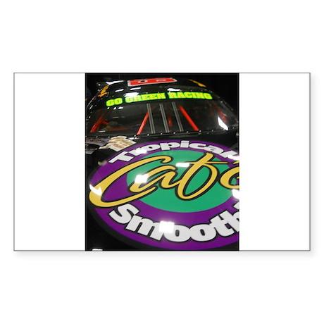 Cafe Sponsored Racing Car Sticker (Rectangle)