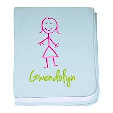 Gwendolyn-cute-stick-girl.png baby blanket