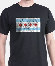 Chicago Flag Distressed T-Shirt