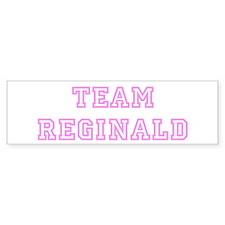 Pink team Reginald Bumper Bumper Sticker