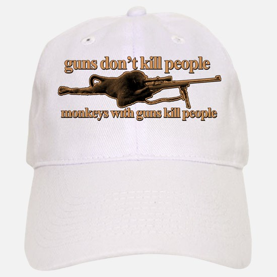 MONKEYS WITH GUNS... Baseball Baseball Cap