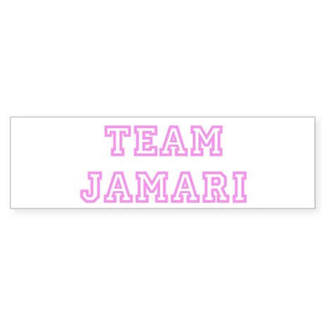 Pink team Jamari Bumper Sticker