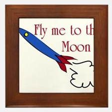 Fly me to the Moon Framed Tile