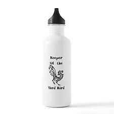 Keeper of the Yard Bird Water Bottle