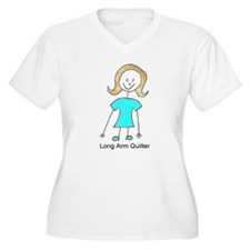 stick quilter w text lg.JPG Plus Size T-Shirt Plus