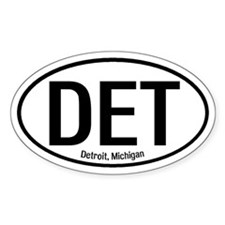 Detroit, Michigan Oval Decal