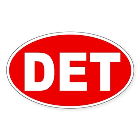 Detroit, Michigan Oval Sticker