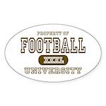 Football University Oval Sticker