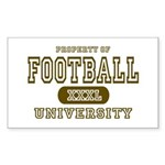 Football University Rectangle Sticker