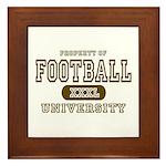 Football University Framed Tile