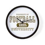 Football University Wall Clock