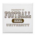 Football University Tile Coaster