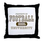 Football University Throw Pillow