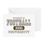 Football University Greeting Cards (Pk of 10)