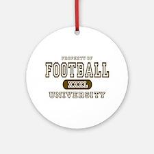 Football University Ornament (Round)