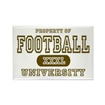 Football University Rectangle Magnet