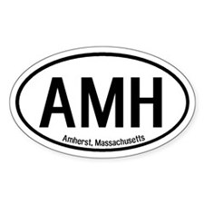 Amherst, Massachusetts Oval Decal