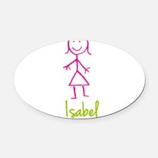 Isabel-cute-stick-girl.png Oval Car Magnet