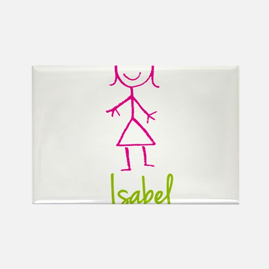 Isabel-cute-stick-girl.png Rectangle Magnet