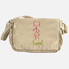 Isabel-cute-stick-girl.png Messenger Bag