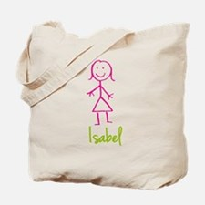 Isabel-cute-stick-girl.png Tote Bag