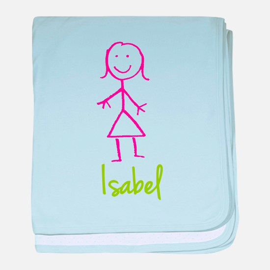 Isabel-cute-stick-girl.png baby blanket