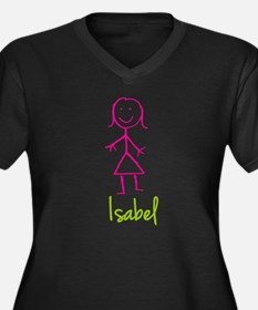 Isabel-cute-stick-girl.png Women's Plus Size V-Nec