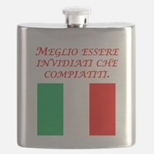Italian Proverb Envy Pity Flask