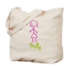 Molly-cute-stick-girl.png Tote Bag