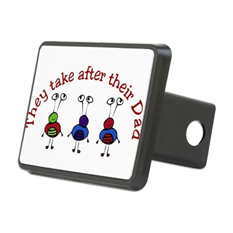 They take after their Dad Rectangular Hitch Cover
