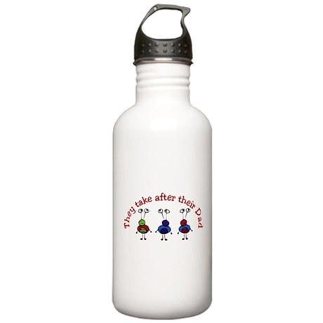 They take after their Dad Stainless Water Bottle 1